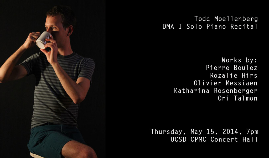 Todd Moellenberg: Solo Recital, 15 May 2014