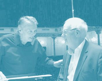 round table with louis andriessen, rotterdam