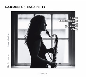 Fie Schouten: Ladder of Escape 11 (Amsterdam: Attacca Publishing, 2014) with works by Stockhausen, Kagel, Rozalie Hirs, Robin de Raaff, Unsuk Chin