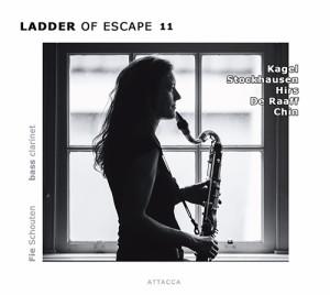 Fie Schouten: Ladder of Escape 11 (Amsterdam: Attacca Publishing, 2014) with works by Stockhausen, Kagel, Rozalie Hirs, Robin de Raaff, Unsuk Chin
