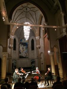 Bozzini Quartet performing 'Nadir' (2014) by Rozalie Hirs at Cenakel, Tilburg, The Netherlands, 28 October 2014