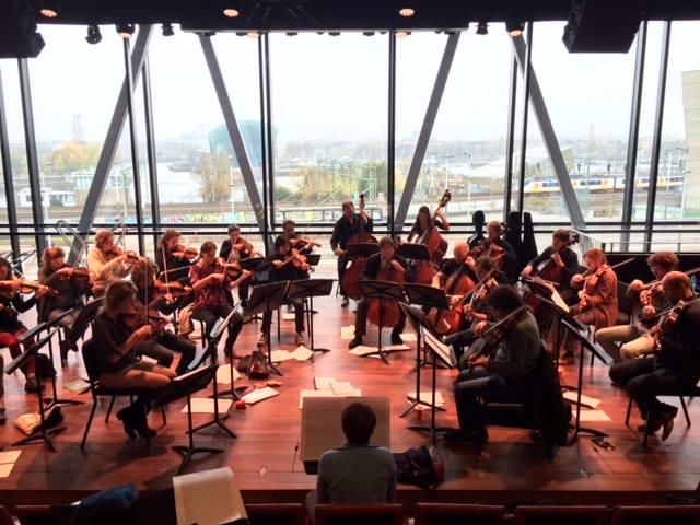 Amsterdam Sinfonietta rehearsal of 'Lichtende Drift' (2014) by Rozalie Hirs, at Bimhuis, Amsterdam, 19 November 2014