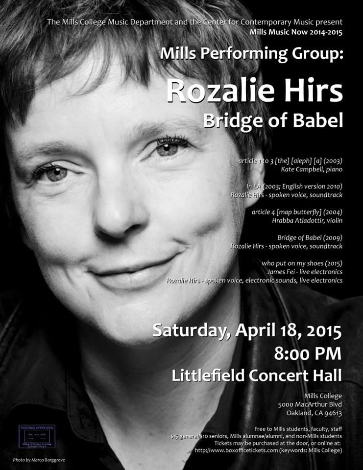 portrait concert, mills college, united states