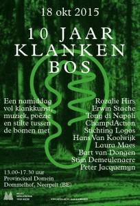 Klankenbos/ Sound Forest: anniversary event on 18 October 2015 - poster