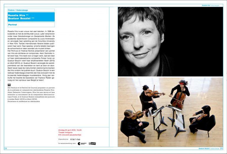 portrait concert, festival van vlaanderen, belgium – poetry and music