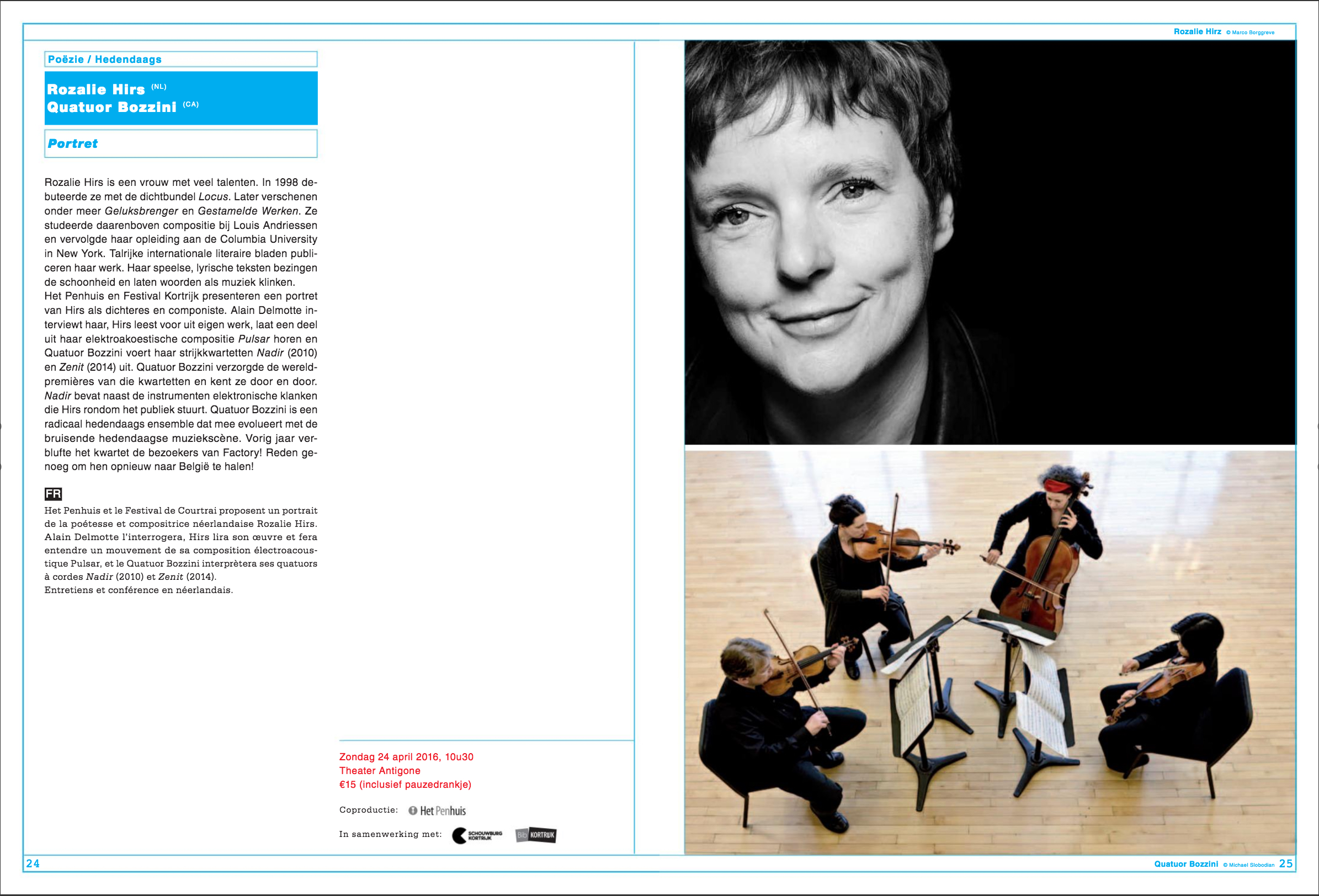 portrait concert, festival van vlaanderen, belgium – poetry and music