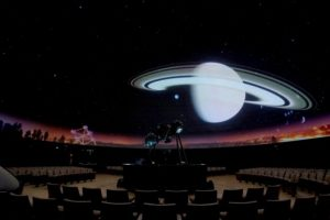On 9 September 2016 Rozalie Hirs, Heike Fiedler, and Laurence Vielle perform at the Heyzel Planetarium, Brussels, during the Underground Poetry Festival 2016