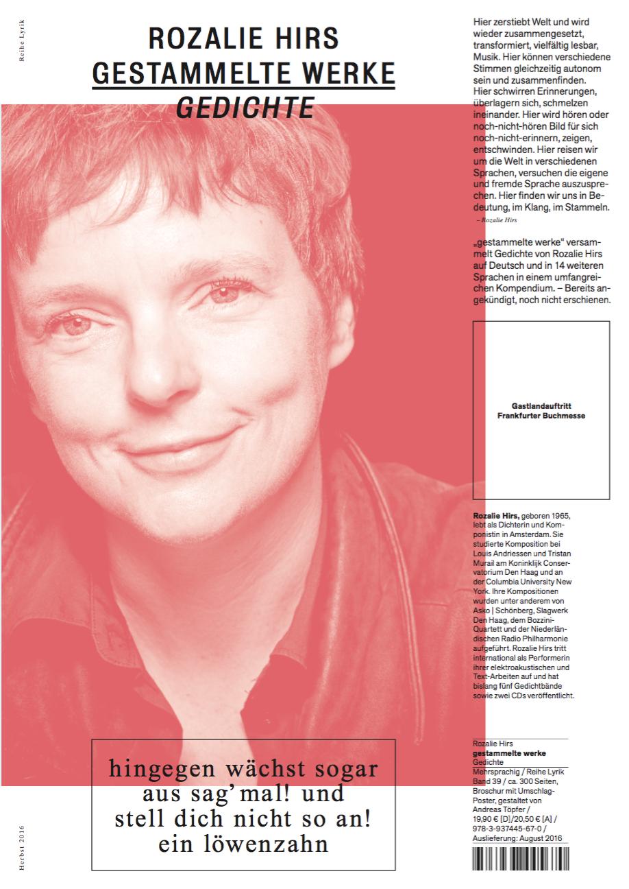 gestammelte werke (berlin: kookbooks, 2017) – publication