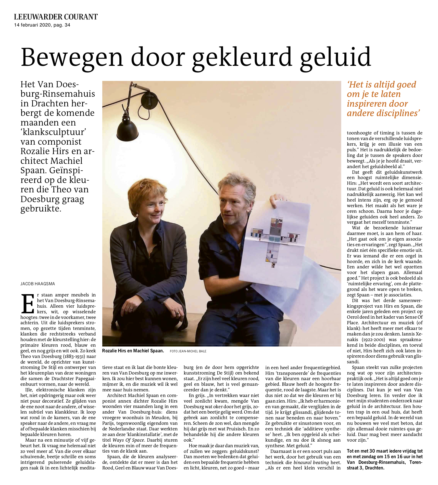 interview in leeuwarder courant