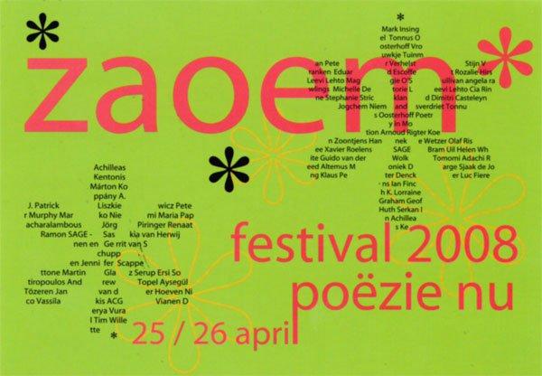 poetry pieces i-ii (2008) – world premiereaan de zon de wereld (2006), in la (2003), van het wonder is woord (2005)